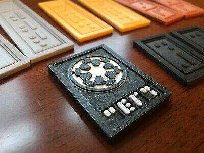 Star Wars Inspired Republic Imperial  Credits- Han Solo Sabacc chips