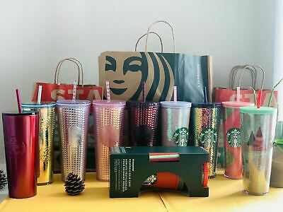 Starbucks 5 Pack Color Changing Cups PLUS Confetti 2020 COLD Reusable  Venti NEW