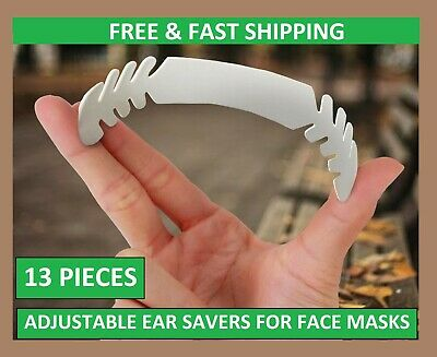 13 EAR SAVERS FOR FACE MASK  ADJUSTABLE HEADBAND STRAP PACK