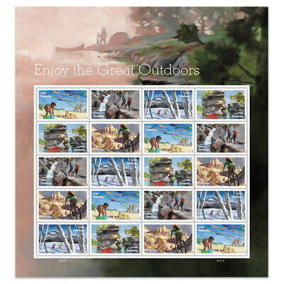 USPS New Enjoy the Great Outdoors Pane of 20