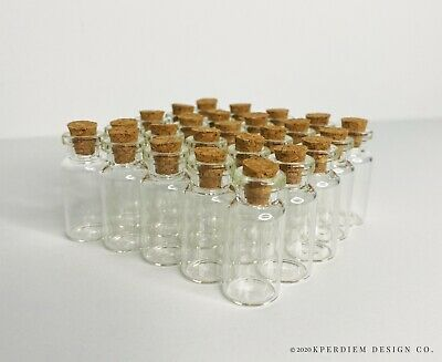 Wholesale 3ml 16x40mm Small Tiny Clear Glass Bottle with Cork  BEST DEAL ONLINE