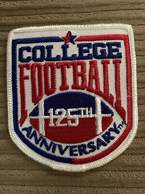 RARE TEAM ISSUE COLLEGE FOOTBALL 125TH ANNIVERSARY JERSEY UNIFORM PATCH