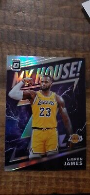 2019-20 Optic LEBRON JAMES My House Silver Holo Parallel Insert 13 SP - Lakers