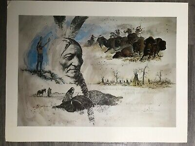 Large lot of Jack Hines Western Art Prints- 88 prints