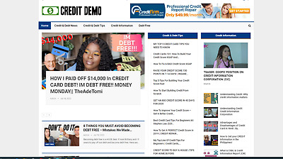 credit and debt relief website  Affiliate product website100 automated