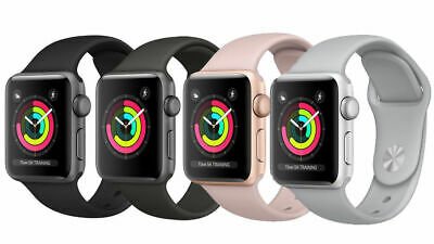 Apple Watch Series 3 38MM 42MM -  GPS Only - Aluminum  Cracked Glass Good LCD
