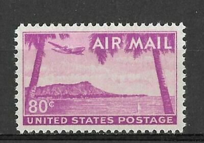 US C46 Air Mail Diamond Head Hawaii 1952 80 c XF  MNH
