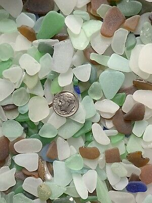 50pcs SM Genuine Surf Tumbled SeaBeach Glass JewelryCrafts