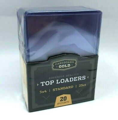 Trading Card Sleeves Hard Plastic Clear Case Holder 25 Baseball Cards Topload