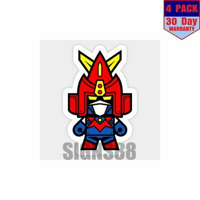 Voltes V 4 pack 4x4 Inch Sticker Decal