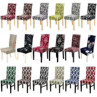 146Pcs Printed Dining Room Chair Covers Slipcover Wedding Party Seat Protector