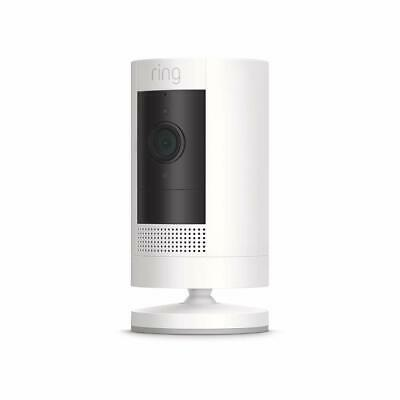 Ring Stick Up Cam IndoorOutdoor 1080p WiFi battery Security Camera White