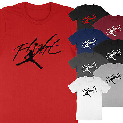 NEW Flight Jumpman Hoop Michael Air Jordan Print Basketball Unisex T-Shirt Tee