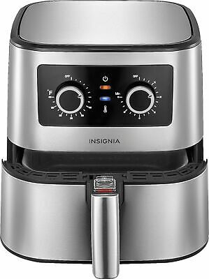 Insignia- 5-qt- Analog Air Fryer - Stainless Steel