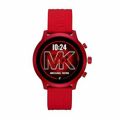 Michael Kors MKT5073 Red Aluminum Case And Silicone Strap Smartwatch