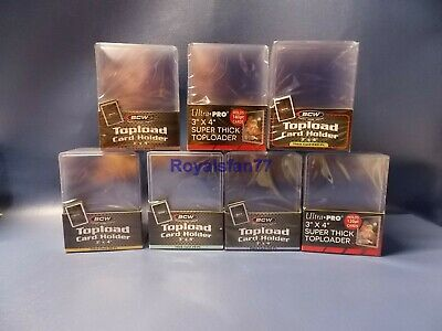 BCW Ultra PRO 3x4 Thick Toploaders Sleeves 59 79 108 120 138 168 180 197 240