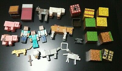 MINECRAFT TOY LOT FIGURES BLOCKS ANIMALS - more