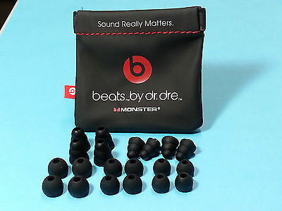 20 Gels for Powerbeats-PRO with NON-charging Carrying Pouch- Black Soft  earbuds
