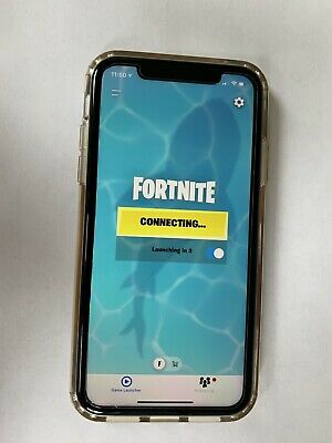 Iphone Xr With Fortnite Installed And Phone Case And Screen Protected Included