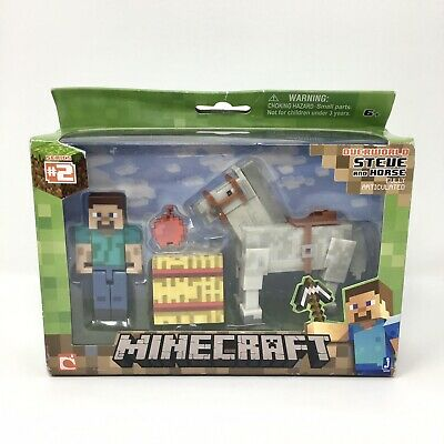 Minecraft Series 2 Overworld Steve and Horse Toys Set - Fully Articulated - New