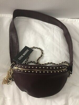 STEVE MADDEN B Casual Wine And Belt Bag NWT MSRP 80