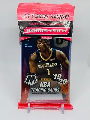 2019-20 Panini Mosaic NBA Basketball 15 Cards Cello Fat Hanger Pack Pink Camo