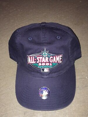NOS 2001 Baseball All-Star Game Adjustable Hat Cap One Size With Tags Mariners