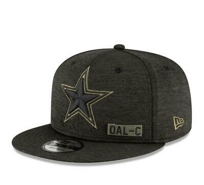 Dallas Cowboys Hat 2020 Salute to Service Sideline 9FIFTY Snapback Cap