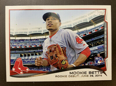 2014 Mookie Betts Rookie Debut Topps Update RC US-301 Red Sox Dodgers 😍