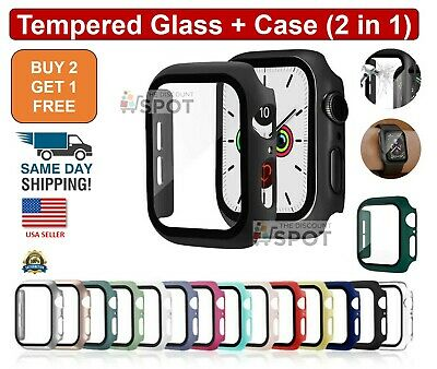 Tempered Glass- Protector Cover Case For Apple Watch Series 6 5 4 SE 38404244