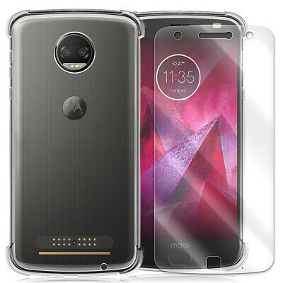 TPU Case Tempered Glass Screen Protector for Motorola Moto Z Force Droid XT1650M