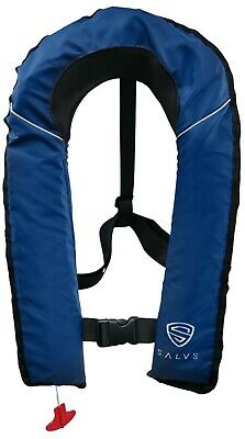 SALVS Automatic  Manual Inflatable Life Jacket for Adults  Navy Blue Life Vest