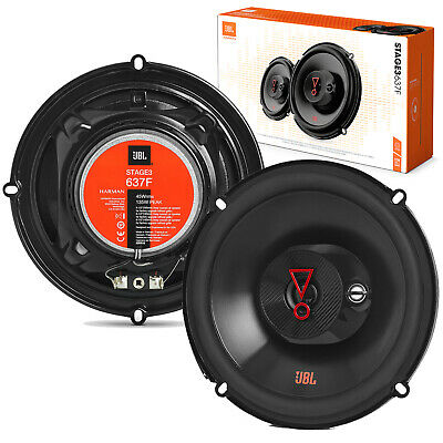 2x JBL STAGE3 637F 6-5 CAR AUDIO STEREO 3-WAY 225W COAXIAL SPEAKERS 6-12 INCH