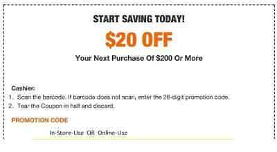 1X Home Depot 20 off 200 In-Store-OnIine-Voucher Delivery-FAST-
