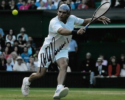 mark philippoussis in action wimbledon final 2004 signed 10x8 photo