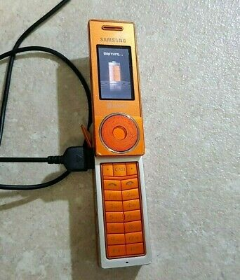 Samsung SGH X830 -Mobile Phone Collectors -RARE ORANGE-CHARGER-WORKING