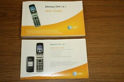 PANTECH Breeze II P2000 MOBILE PHONE Manual and Quick Start Guide  AT-T