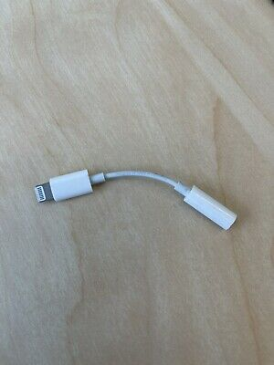 New Genuine OEM Apple Lightning to Headphone Aux Jack Adapter A1749 for iPhone