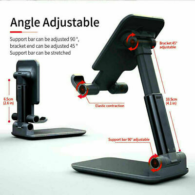 Folding Phone Stand Cell Phone Holder Dock Mount for iPad iPhone Desktop