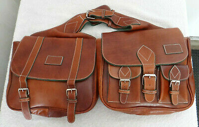 Rare Geno DLucca Hand Crafted Italian Leather Motorcycle Saddlebags