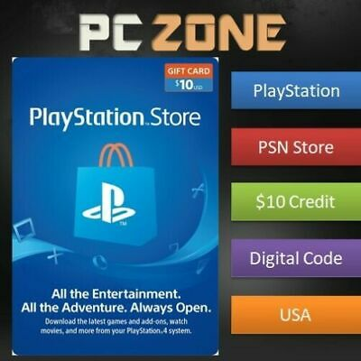 10 PlayStation Store USD Card - PS PSN US Store - Instant Code PS4PS3PSP