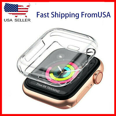 Soft Screen Protector Cover Case Apple Watch Series SE 6 5 4 3 2 1  38404244