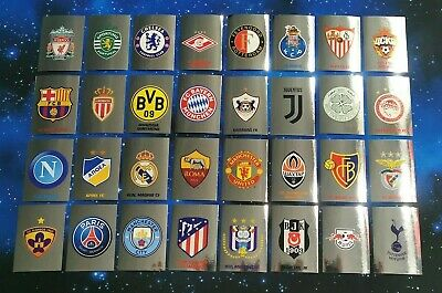 TOPPS Champions League 2017/18 Sticker - All 32 Club Badge - complete set - Logo