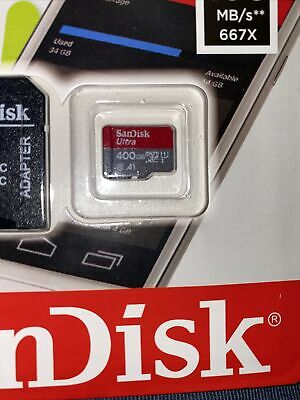 SanDisk Ultra 400GB MicroSDXC Memory Card -400G-100MBs UHS-I Card With Adapter