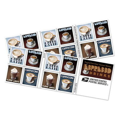 USPS New Espresso Drinks Booklet of 20