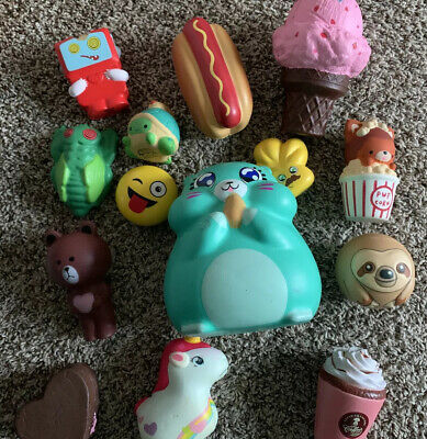 Huge Squishies Bundle Lot Of 14 Used