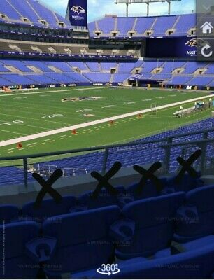 Baltimore Ravens PSLS4Lower Bowl FRONT ROW of 2nd section 133 seats1-4