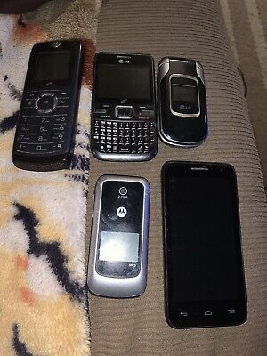 Lot Of 5 Old Cell Phones untested