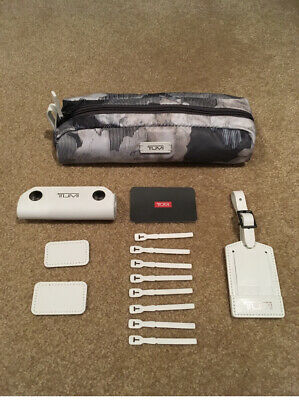 NWT Tumi Accents Kit - Camo Floral - Nylon - Leather - WhiteGrayBlack - 13 pc