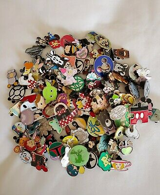 DISNEY TRADING PINS 50 LOT, NO DOUBLES, HIDDEN MICKEY Free Priority 1-3 Day Ship